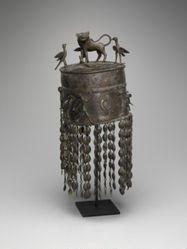 Headdress Surmounted by a Lion, Three Birds, and a Serpent