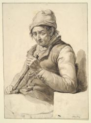 Seated Man with Stick