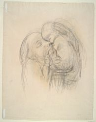 Study of a Mother and Child (recto); Sketch (verso)