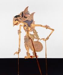 Shadow Puppet (Wayang Kulit) of Wibisno, from the consecrated set Kyai Nugroho