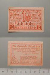 10 Heller from Aichkirchen, redeemable 31 January 1921, Notgeld