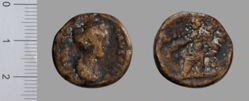 Follis (40 Nummi) of Antoninus Pius, Emperor of Rome from Alexandria