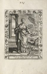 Saint Christina, 1 of 25 plates from the series Martyrologium Sanctarum Virginum (Female Martyr Saints)