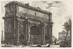 Veduta dell'Arco di Settimio Severo (View of the Arch of Septimius Severus [with the Temple of Saturn in the background]), from Vedute di Roma (Views of Rome)