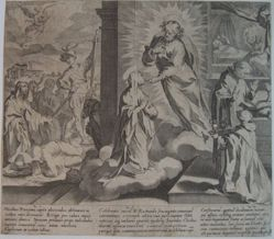 Plate 9, from the series, Life and Miracles of Saint Catherine of Siena
