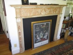 Fireplace Breast with the Port of Leith's Coat of Arms
