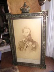 Portrait of Crown Prince Frederick William in an elaborate frame