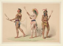 Ball Players, pl. 21 from the North American Indian Portfolio
