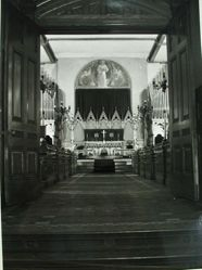Interior view of 1905 mural painted by Katherine S. Dreier at St. Paul's School