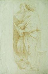 Study from figures in Raphael's Parnassus