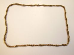 Necklace with Geometric Beads