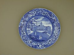 Plate with a view of New York, City Hall