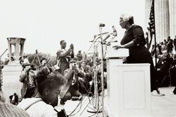Mahalia Jackson (at podium); first row: Mordecai Johnson, from the series Prayer Pilgrimage for Freedom