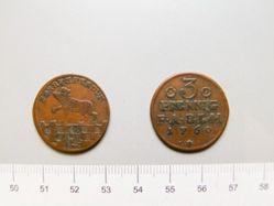3 Pfennig of Viktor II Friedrich from Anhalt Bernburg