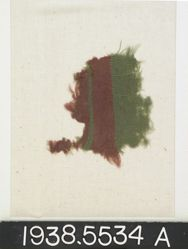 Green Fragment with red bands
