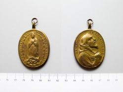 Brass Medal of Our Lady of Guadalupe of Rome