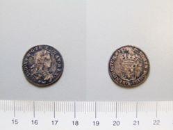 Silver 1/20 Écu of Louis XV of France