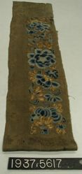 Sleeve band of embroidered fancy cloth