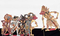 Shadow Puppet (Wayang Kulit) of Anggada, from the consecrated set Kyai Nugroho