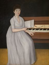 Portrait of Sarah Prince (also known as Silver Moon or Girl at the Pianoforte)