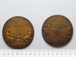 Bronze Medal from Belgium Commemorating the Tomb of the Unknown Soldier