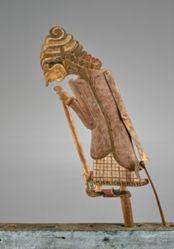 Puppet (Wayang Klitik) of a Begawan or possibly Tunggalmanik