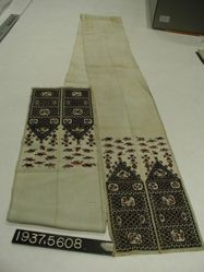 Long band of embroidered silk cloth