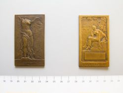 French WW I plaquette for presentation by Edouard Blin