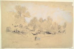 Recto: Landscape; Verso: Still Life