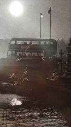Bus on Battersea Bridge