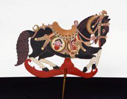 Shadow Puppet (Wayang Kulit) of Jaran, from the consecrated set Kyai Nugroho