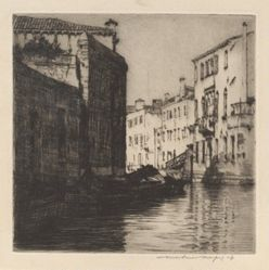 A Back Canal, Venice (Palaces)
