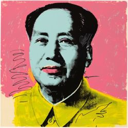 Mao, in a portfolio of ten: Blue face