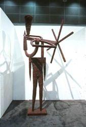 Untitled (reddish, wire bound)