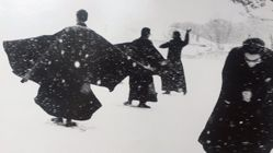 Seminarians Playing in the Snow