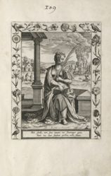 Saint Lucy, 1 of 25 plates from the series Martyrologium Sanctarum Virginum (Female Martyr Saints)
