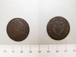 Halfpenny with King James II