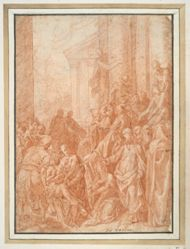 Christ Resuscitating the Youth of Nyme (recto); Seated Youth Seen from the Back (verso)