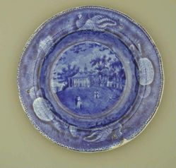 Plate with a View of Mount Vernon