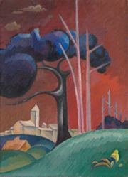 Landscape with Factory by Lake, II