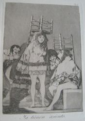 Ya tienen asiento. (They've Already Got a Seat.), pl. 26 from the series Los caprichos