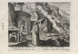 Alferius, number 11 of 25 numbered plates from Trophaeum Vitae Solitariae (Male Hermits)