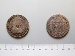 8 Reales of Charles IV, countermarked by George III of England
