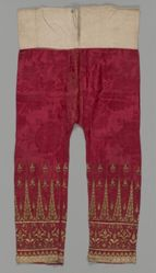 Pants with Couched Gold Tumpal Florals