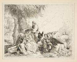 Rest during the Flight into Egypt, from the series Idee pittoresche sopra la fuga in Egitto (Flight into Egypt)