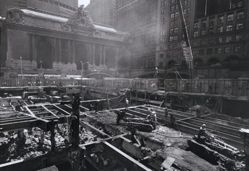Site of the Philip Morris Building Under Construction at the Southwest Corner of 42nd Street and Park Avenue, Opposite Grand Central Station, from the series Open Spaces, Temporary and Accidental