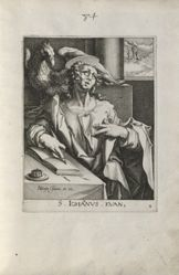 Saint John the Evangelist, 1 of 4 numbered plates ffrom the series The Four Evangelists