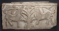 Transenna relief showing a Stag and Unicorn