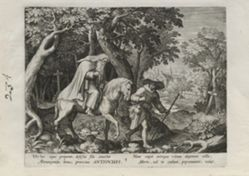 Antiochus, number 3 of 25 numbered plates from Trophaeum Vitae Solitariae (Male Hermits)