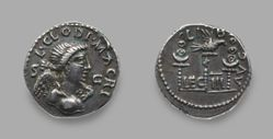 Denarius of L. Clodius Macer from Carthage